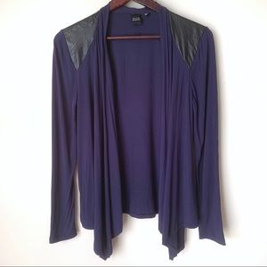 Saks Fifth Ave Blue Open Draped Front Top